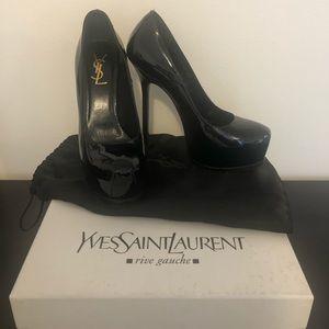 Yves Saint Laurent Tribtoo Black Patent Pumps